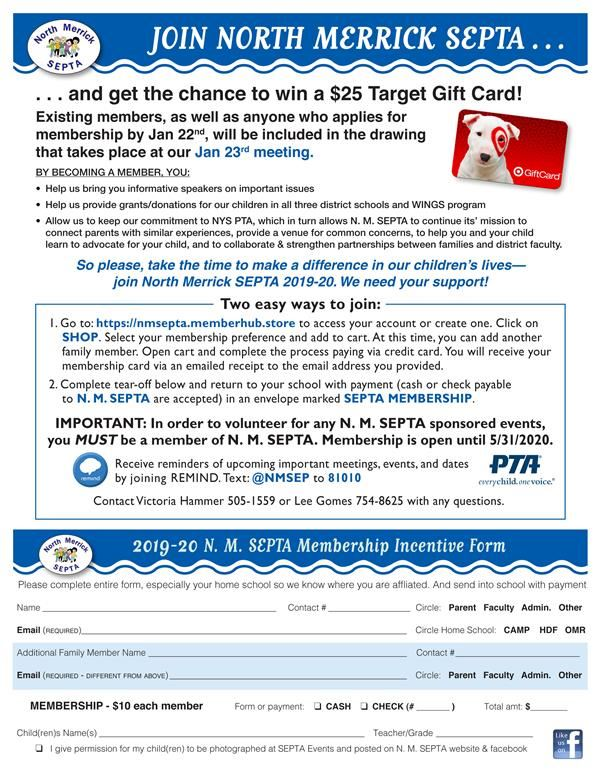 2019-20 SEPTA Membership Incentive flyer
