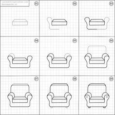 How-to-draw an armchair