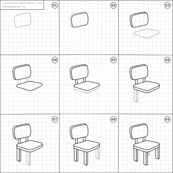 How-to-draw a dining chair