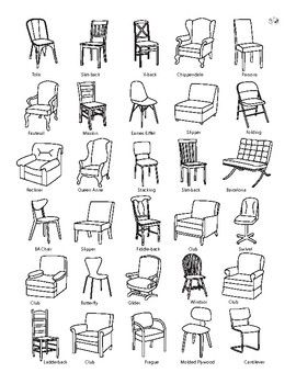 So many different kinds of chairs!