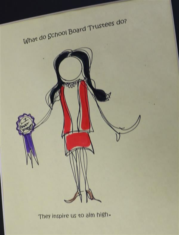 Drawing of School Board Trustee